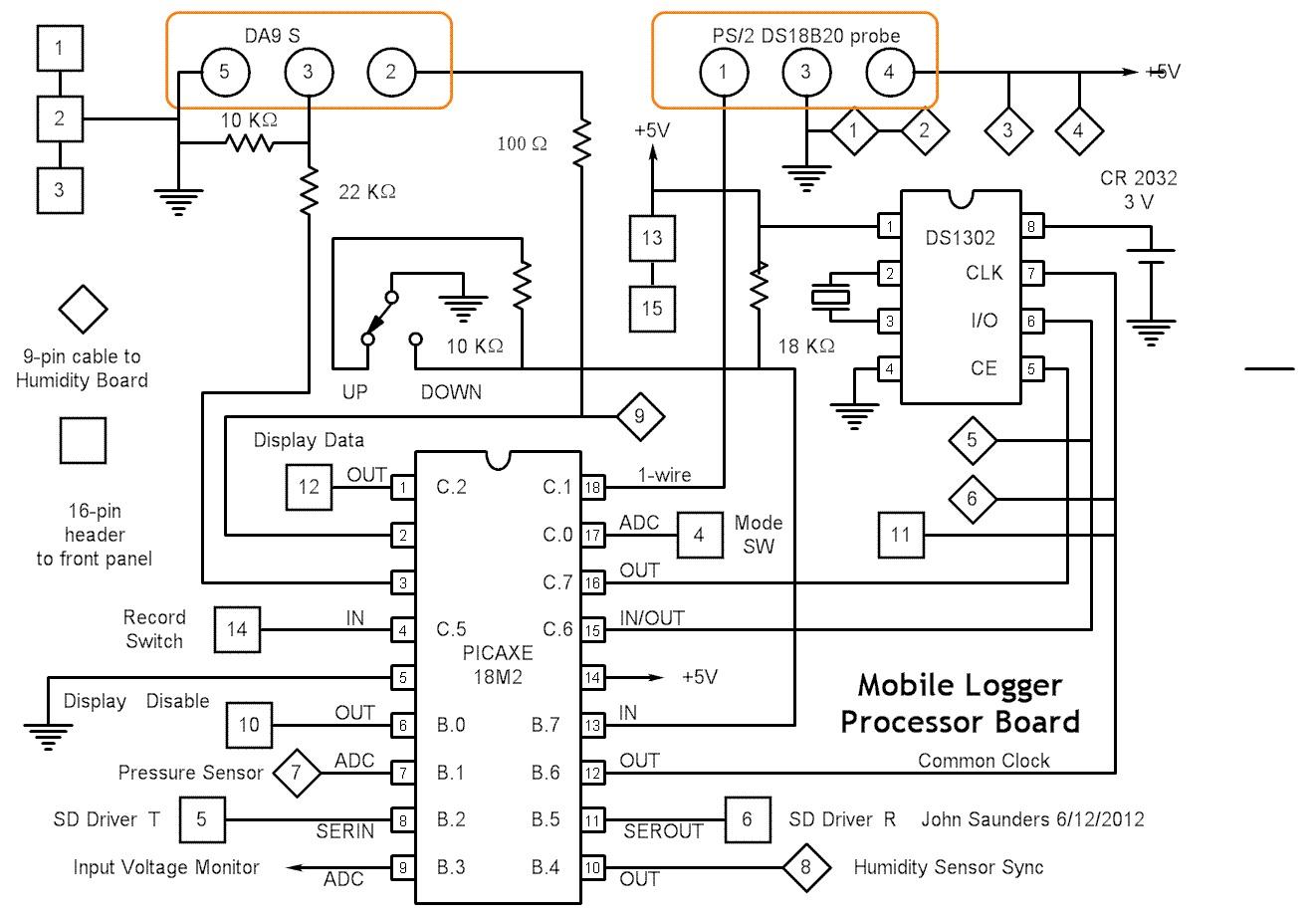 Mobile logger schematics for Small circuit boards